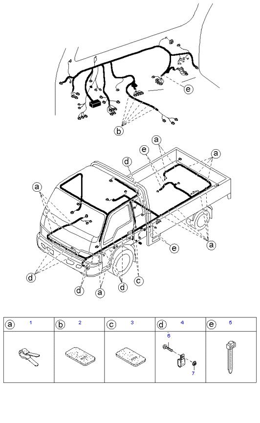 Держатели жгутов проводов ( 1.4T E/L SUPER CAB )