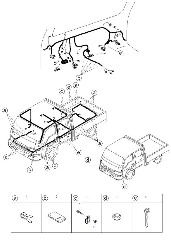 Держатели жгутов проводов ( 1.4T E/L DOUBLE CAB )