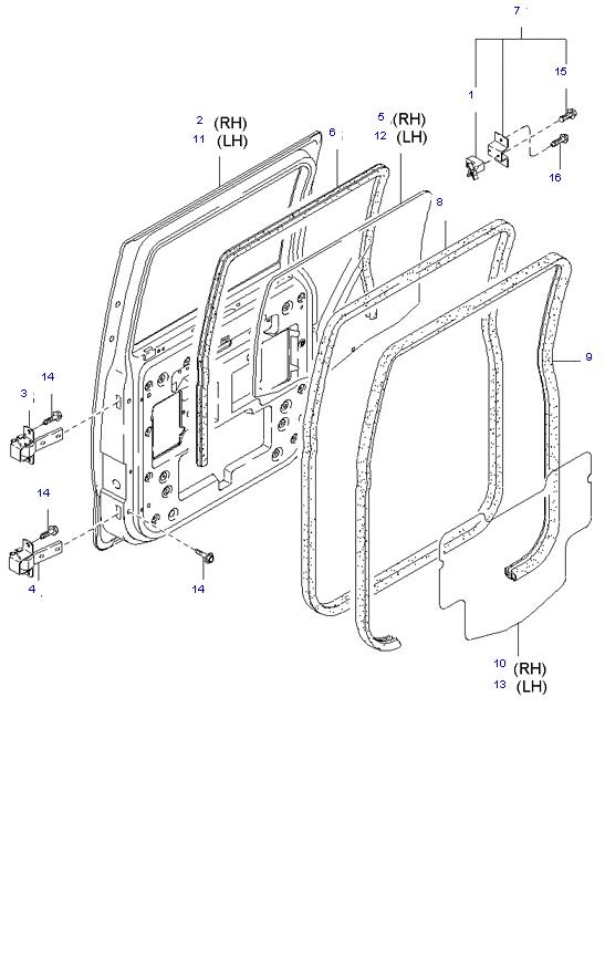 Задняя дверь ( 1.4T E/L DOUBLE CAB )