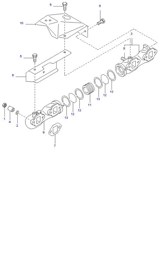Выпускной коллектор ( D4AL(117PS) )
