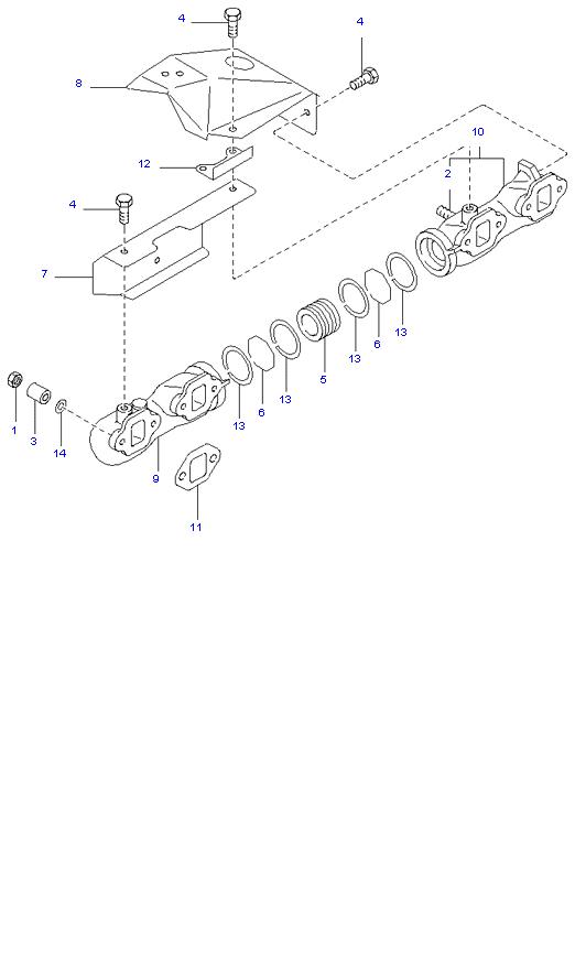 Выпускной коллектор ( D4DA(155PS) )