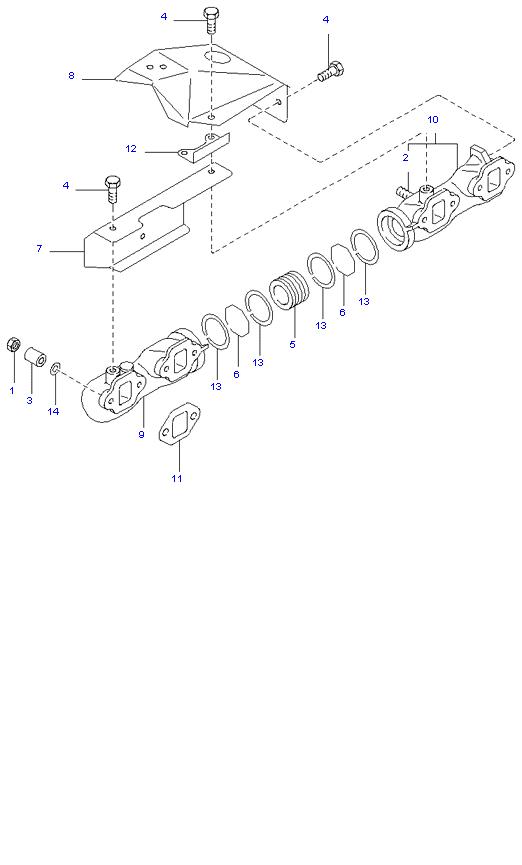 Выпускной коллектор ( D4DB(135PS) )