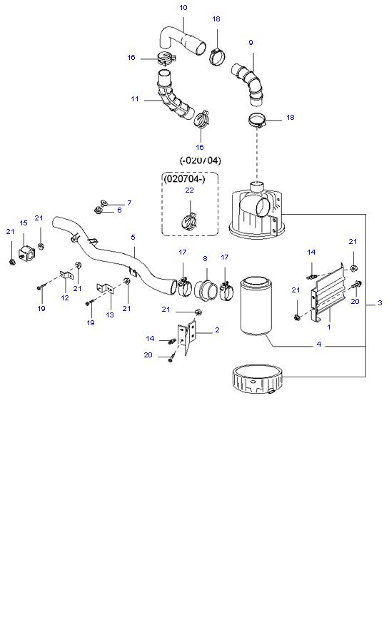 воздушный фильтр ( D4DA(155PS) )