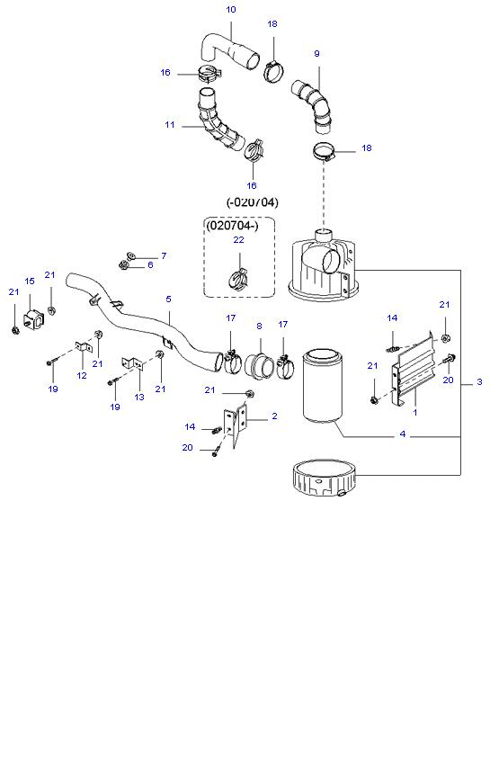 воздушный фильтр ( D4DB(135PS) )