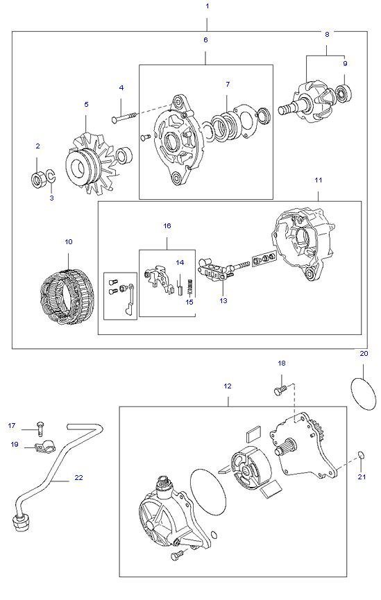 генератор в сборе ( D4DA(155PS) )