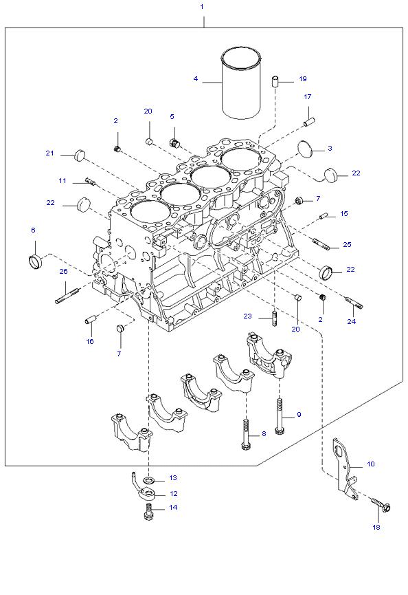 блок цилиндров в сборе ( SH )