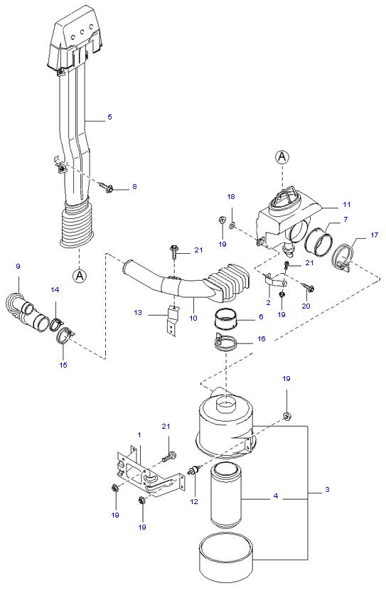 воздушный фильтр ( D4AL(117PS) )
