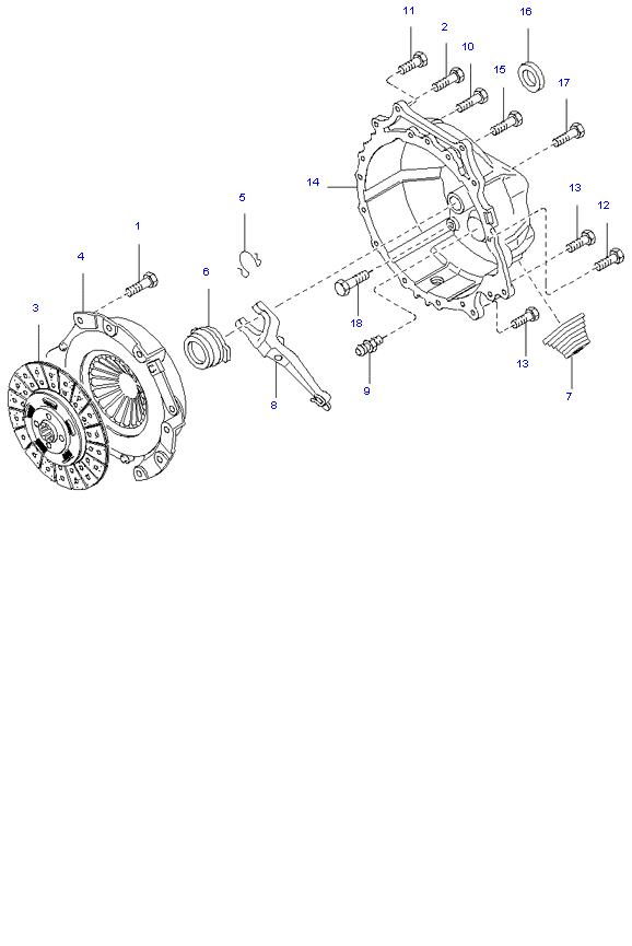 Ведомый диск и механизм сцепления ( D4AL(117PS) )