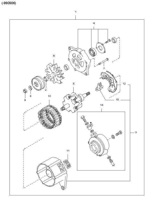 генератор в сборе ( SH )