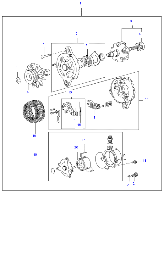 генератор в сборе ( D4AL(117PS) )