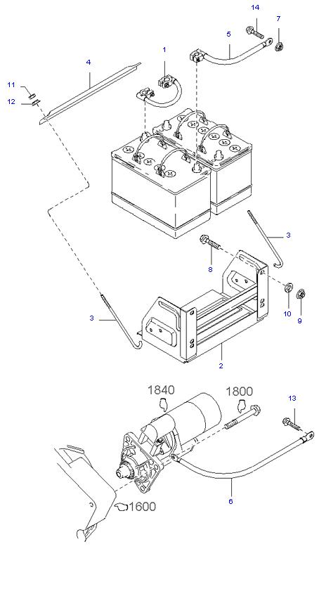 Аккумуляторная батарея и провода ( SH )