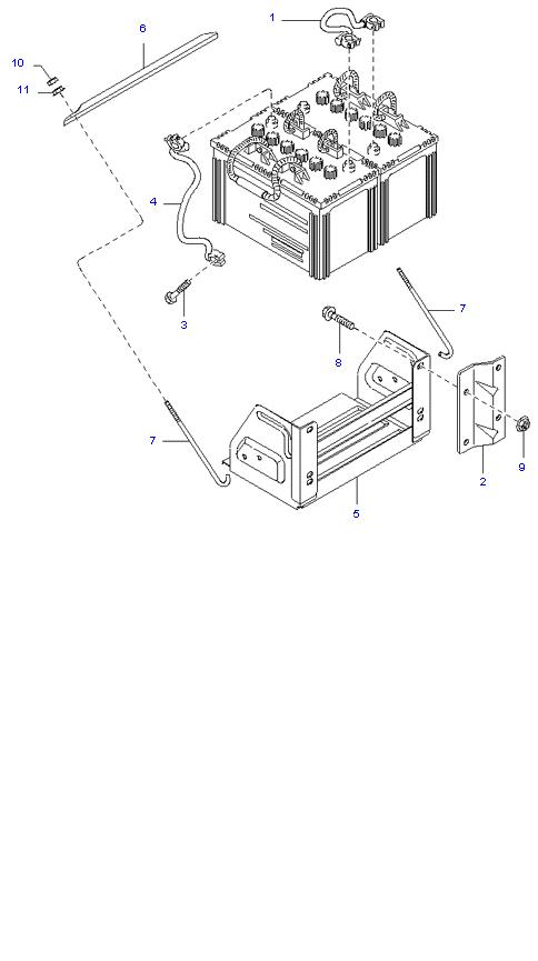 Аккумуляторная батарея и провода ( D4AL(117PS) )