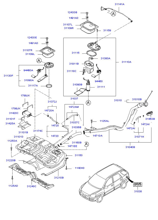 Схема топливной системы киа спортейдж 3