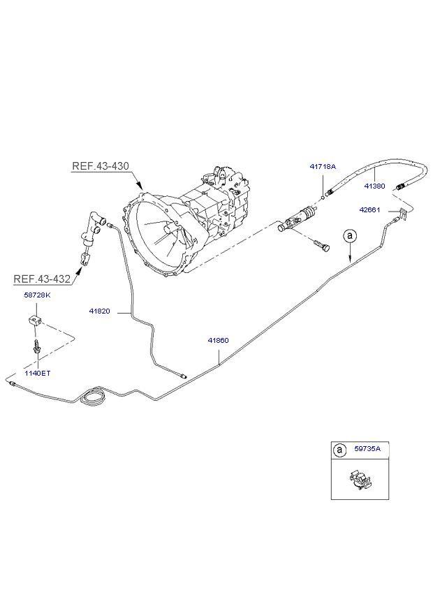 Главный цилиндр гидропривода сцепления