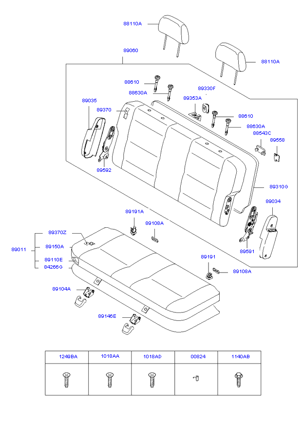 REAR 3ND SEAT