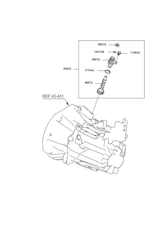 Ведомая шестерня привода спидометра (  )