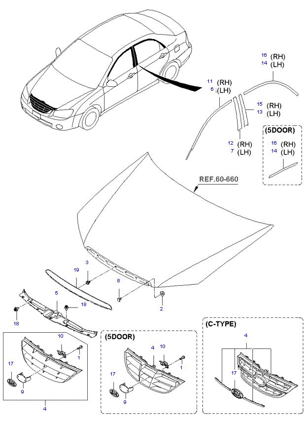 Решетка радиатора для mitsubishi pajero montero sport (2008--) б/у оригинал в наличии 2 шт по цене 2000р