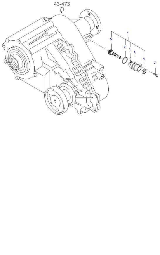 Ведомая шестерня привода спидометра ( D4CB 5MT 4WD )