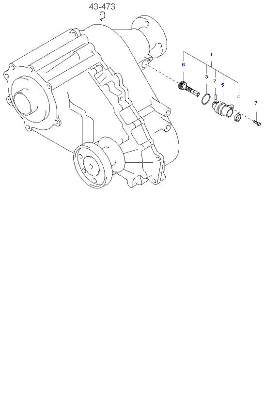 Ведомая шестерня привода спидометра ( 3.5L 5MT 4WD )