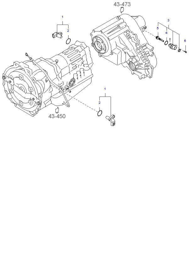 Ведомая шестерня привода спидометра ( D4CB 4AT 4WD )