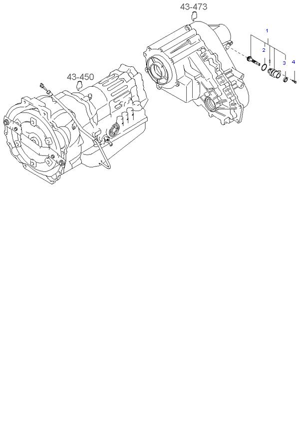 Ведомая шестерня привода спидометра ( D4CB 5AT 4WD )