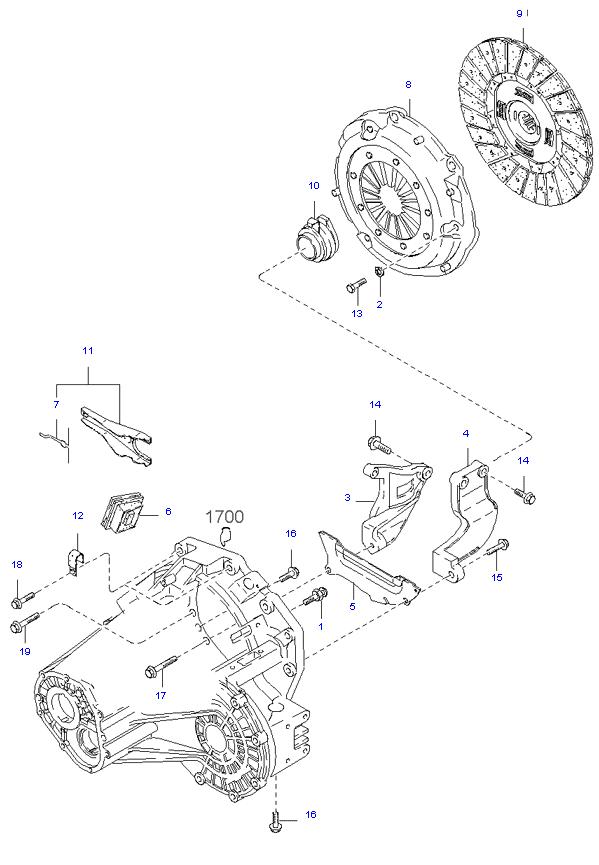 Ведомый диск и механизм сцепления ( 2.9L 5MT 2WD )