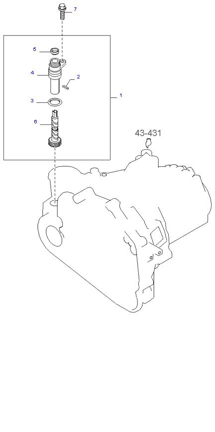 Ведомая шестерня привода спидометра ( 2.0L 5MT 2WD )