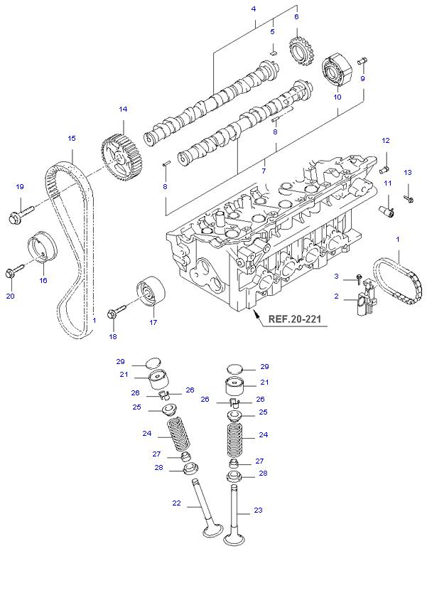 Газораспределительный механизм ( 2.0L )
