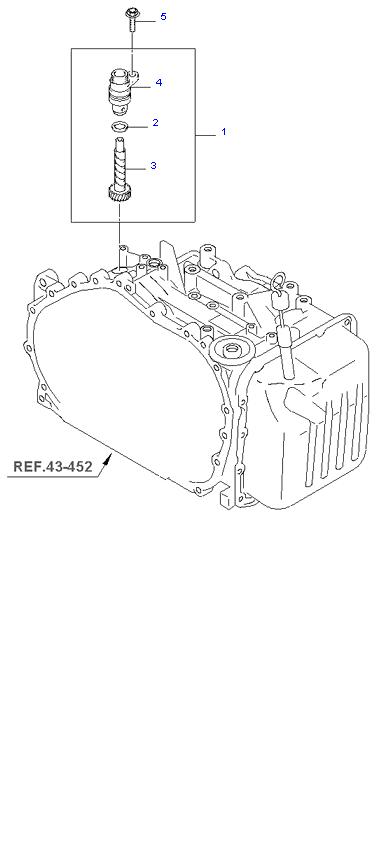 Ведомая шестерня привода спидометра ( 2.0L 4AT 2WD )