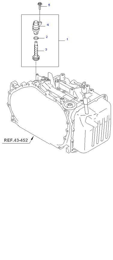 Ведомая шестерня привода спидометра ( 2.7L )