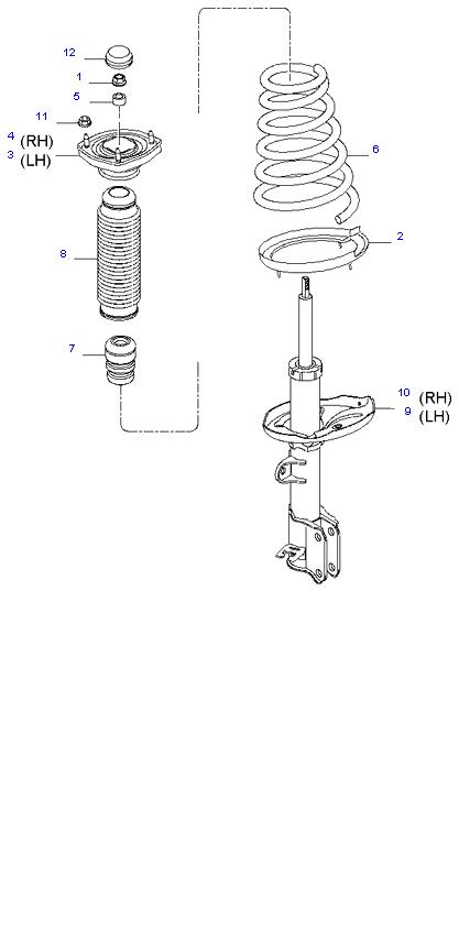 Амортизатор и пружина задней подвески