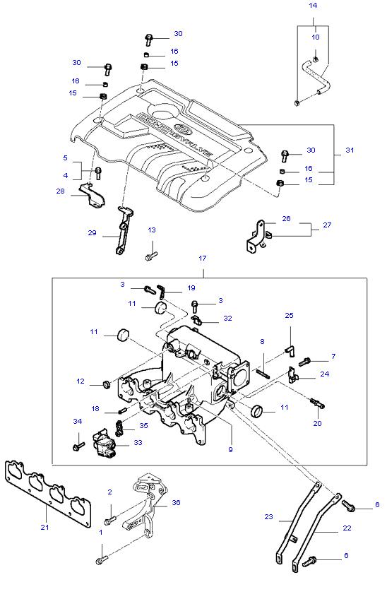 выпускной коллектор двигателя