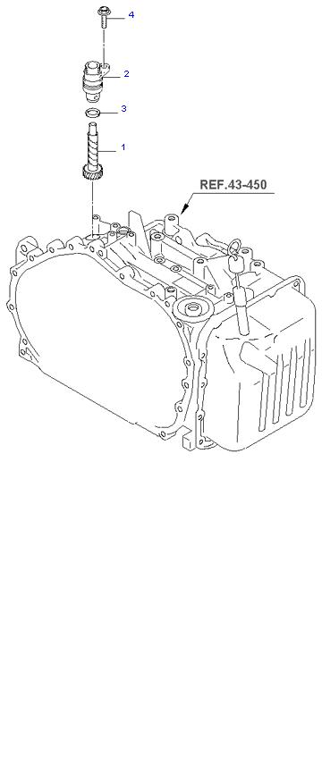 Ведомая шестерня привода спидометра ( 4AT 2WD )