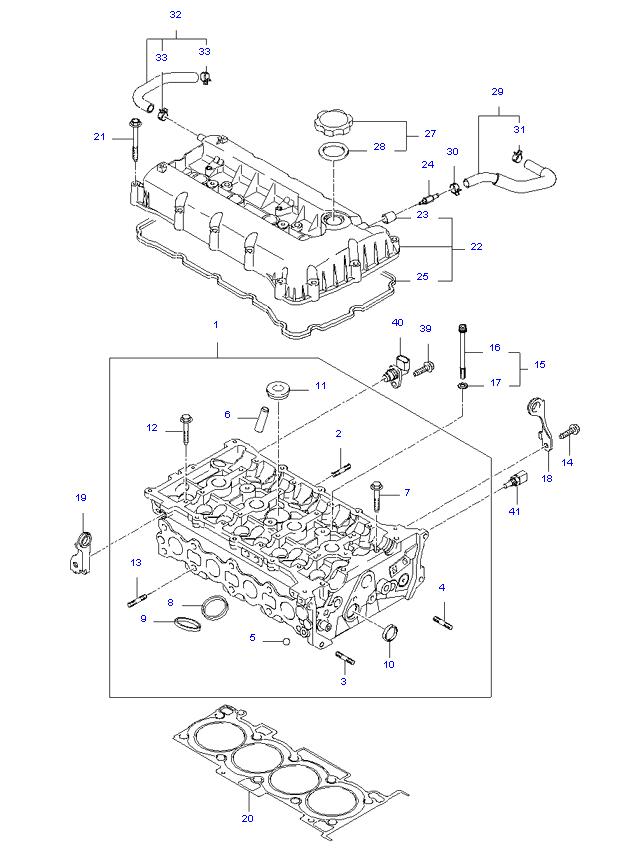 блок цилиндров в сборе ( 2.4L )