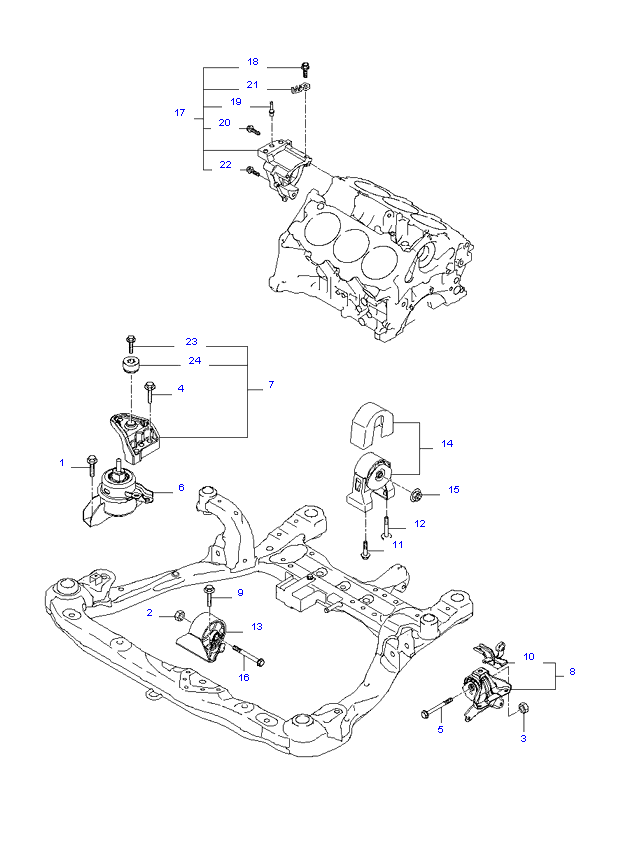 ENGINE MOUNTING ( 2.7L )