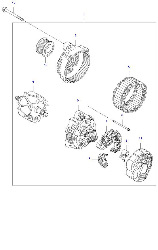 ALTERNATOR MOTOR ( 2.4L )
