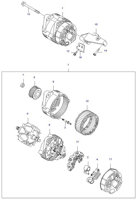 ALTERNATOR MOTOR ( 2.7L )