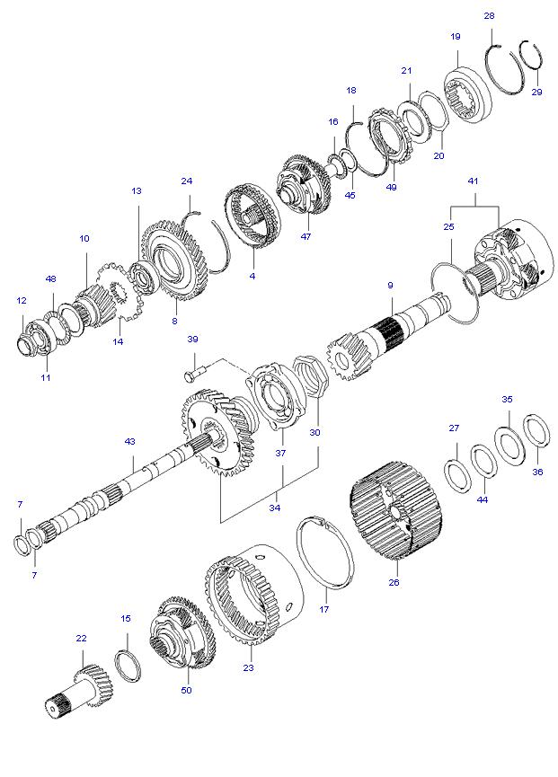 TRANSAXLE GEAR(A/T) ( 2.4L )