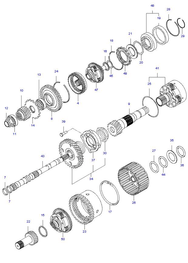 TRANSAXLE GEAR(A/T) ( 2.7L )