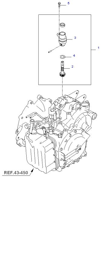 SPEEDOMETER DRIVEN GEAR(A/T) ( 2.4L )
