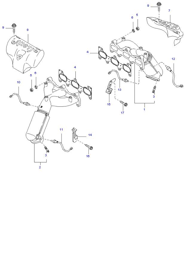 Выпускной коллектор ( 2.5L )