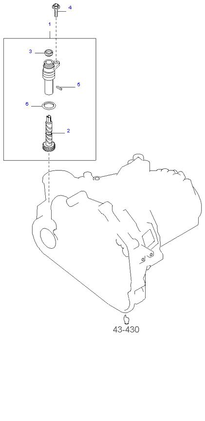 Ведомая шестерня привода спидометра ( 2.4L 5MT 2WD )