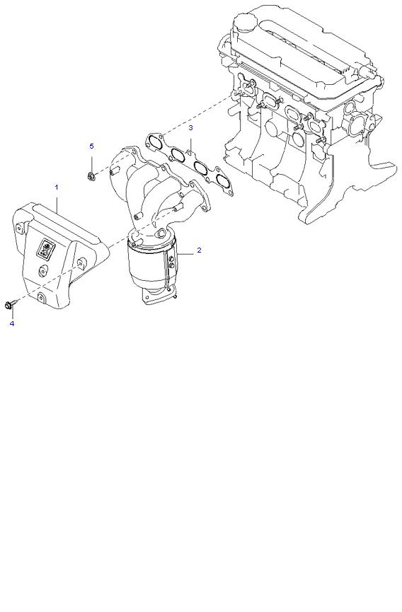 Выпускной коллектор ( 1.5L )