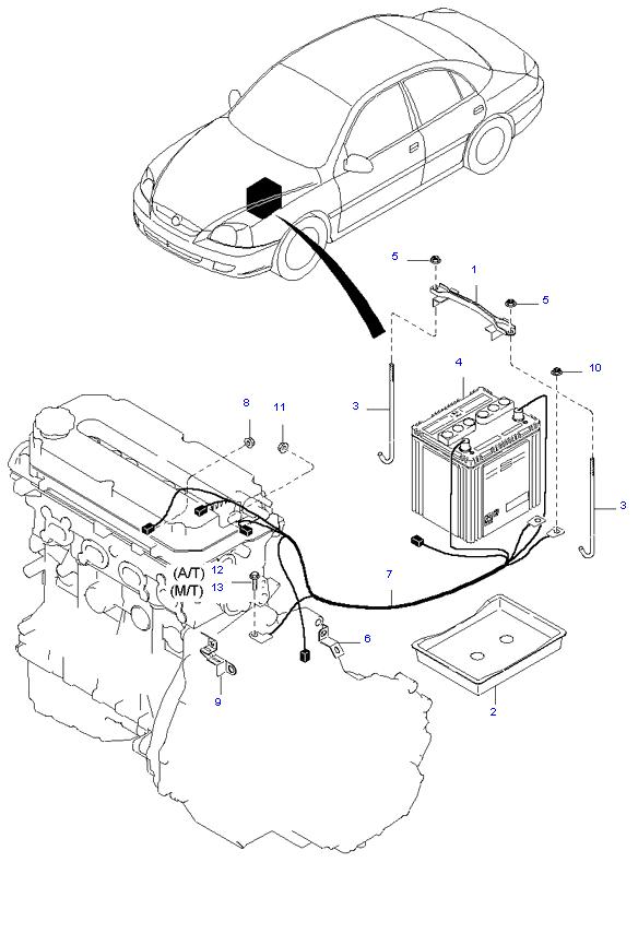 Аккумуляторная батарея и провода ( 1.6L )