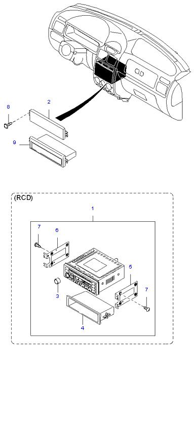 аудио система(радио и касеты) ( 4DOOR )