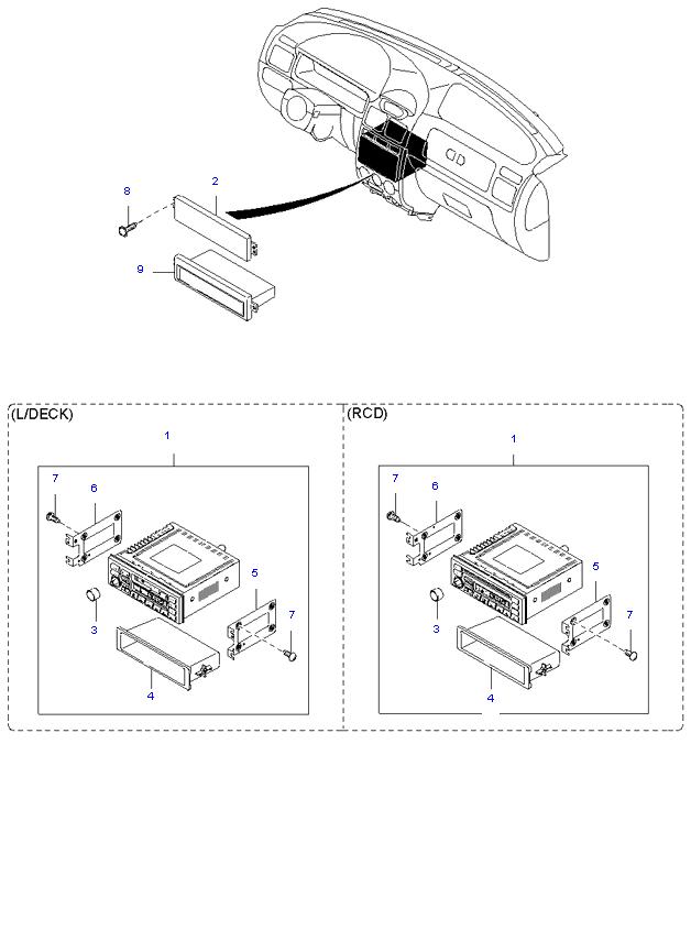 аудио система(радио и касеты) ( 5DOOR )