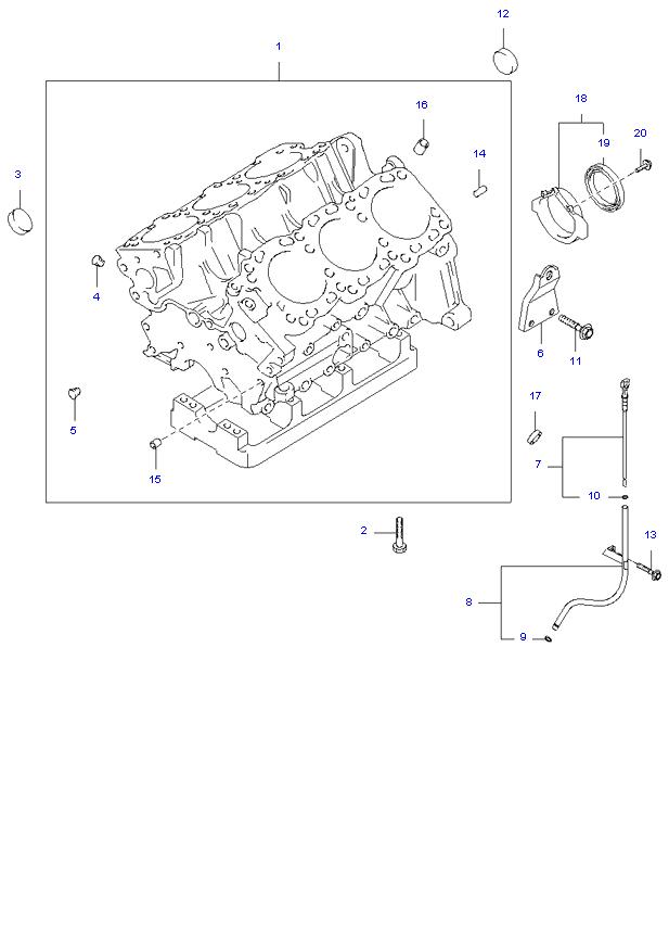 блок цилиндров в сборе ( 3.5L )