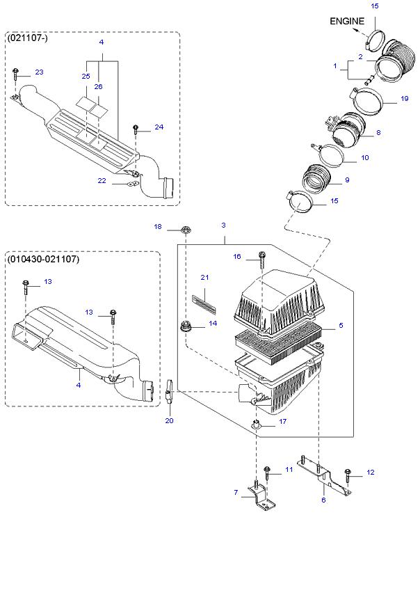 воздушный фильтр ( 3.5L )
