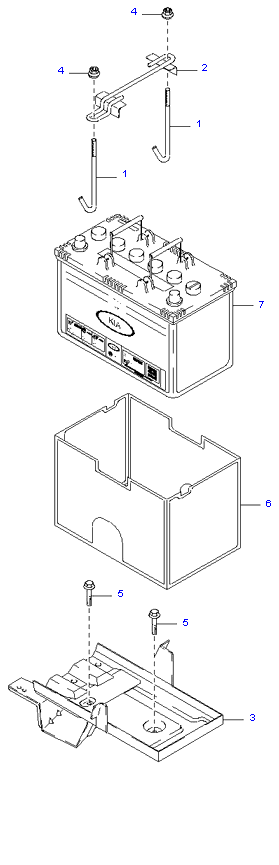 Аккумуляторная батарея и провода ( 3.5L )
