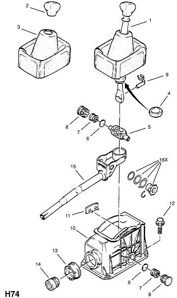 Используется с четырехскоростной трансмиссией ручного управления (Трансмиссия)